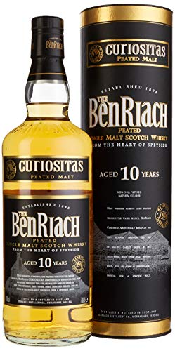 BenRiach Curiositas Peated 10 Jahre Single Malt Scotch Whisky (1 x 0.7 l)