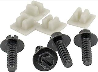 Custom Fasteners 93371 1/4 x 3/4 Slotted Pan License Plate Fastener, 8 Piece (4-Screws, 4-Inserts Metal OE Style)