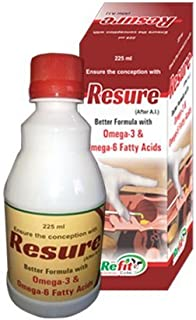 REFIT ANIMAL CARE - Veterinary Conception Improver Supplement for Cattle, Cow and Buffalo (RESURE 225 ml.)