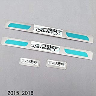 2010 2014 2018 aygo stainless steel door sill strip For Toyota AYGO welcome pedal Trim car accessories 4pcs (2018logoaygo)