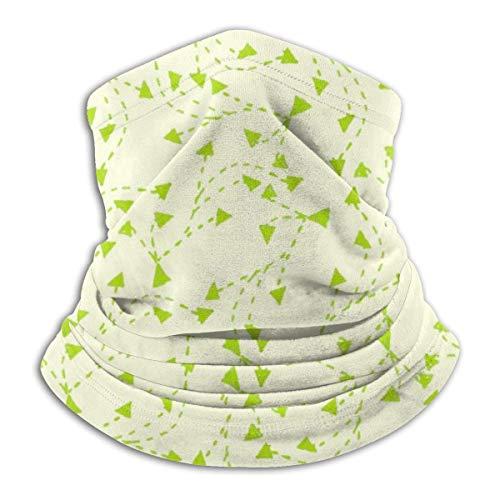 Pearl Bertie Bandeau de ski unisexe motif vert personnalité cache-cou en microfibre écharpe cagoule