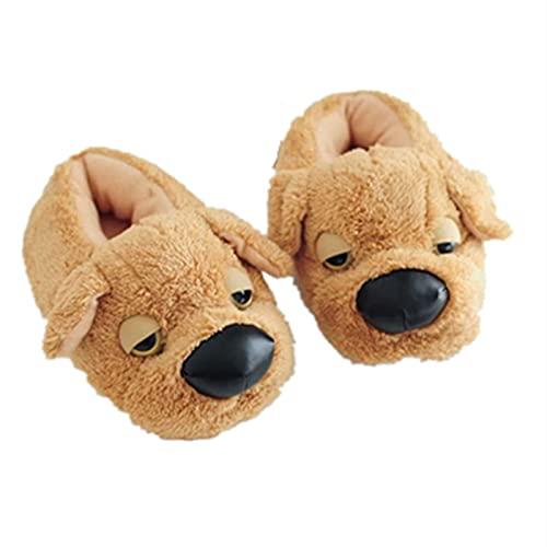 Plüschtier Hausschuhe, Simulation Tedi Hund Plüsch Home Hausschuhe Home Bodenbeutel mit warmen Baumwollschuhen (wird in 36-38 Yard)