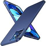 TORRAS Ultra Dünn Hülle für iPhone 12 Mini Hülle Ultraschlanker Schutz Seidig-Mattes Kratzfest Hardcase mit 2 Stück Schutzfolie Slim Handyhülle iPhone 12 Mini Hülle Blu