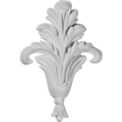 Ekena Millwork ONL03X04X01LF Folhagem pequena, 7,6 cm L x 10 cm A x 1,2 cm P, única, primer