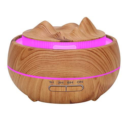 Luftbefeuchter, 400 ml Luftverteiler, mit farbigen Lichtern USB-Aufladung für Büro Privatklinik Schlafzimmer Wohnzimmer(European regulations)