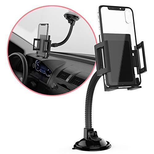 MONTOLA Schwanenhals Universal Handy Halterung kompatibel mit iPhone Samsung Huawei HTC Oppo und weitere Smartphones - KFZ-Halterung mit Kugelgelenk, passend für jedes Auto