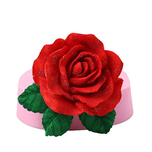 ZZYOU Silicone 3D Big Rose Flower Fudge Cake Chocolate Mold Tool Mold Tool Baking Supplies Cake Tool