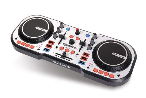 DJ TECH DJ For ALL - Controlador de DJ (USB, tipo scratch), color plateado