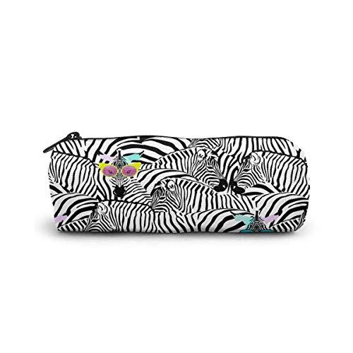 Deux zèbre drôle dans des lunettes de soleil sac cosmétique petit sac de maquillage de stockage de voyage sacs à main