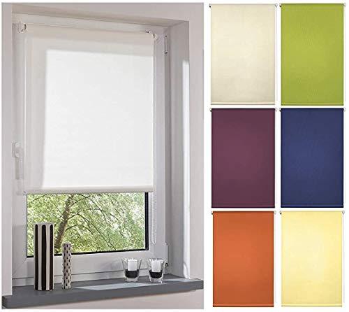 Garduna FIX Tageslicht-Rollo # grün 80cm # Smartfix - Klemmfix - ohne Bohren - viele Farben & Größen- lichtdurchlässig/Sichtschutz