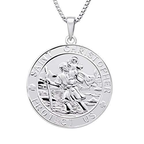 FJ Collier Saint Christophe Argent Sterling 925, Pendentif T