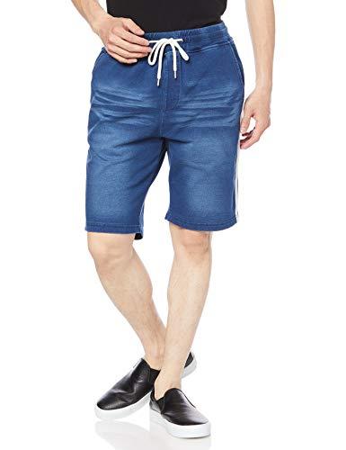 [ウィゴー] カット デニム ライン ショーツ ショートパンツ パンツ ボトム ズボン メンズ L デニム中濃