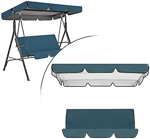 Sostituzione della copertura del baldacchino dell'altalena a 2/3 posti dell'altalena da giardino Sostituzione del baldacchino con la fodera del cuscino Universale 210D Impermeabile/Anti-UV Tessut
