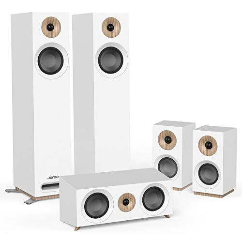 Jamo S 805 HCS 5.0canales Blanco Conjunto de Altavoces - Set de Altavoces (5.0 Canales, Cine en casa, Blanco, Corriente alterna)