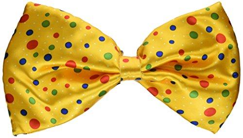 Forum Novelties Jumbo Clown Golden Yellow Multicolor Polka Dot Bow Tie Costume Accessory Bow Tie Jumbo Polka Dot