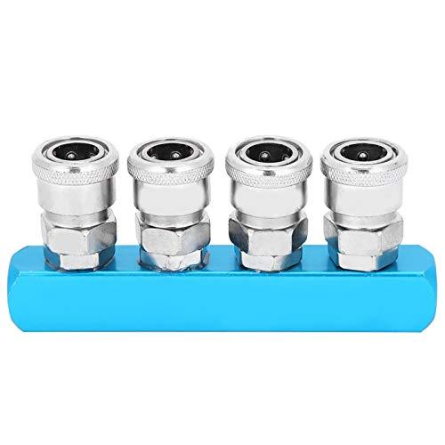 Montaje de colector pequeño, enchufe de conexión rápida, conector neumático Desconecte las líneas aéreas para el compresor de aire Conecte rápidamente