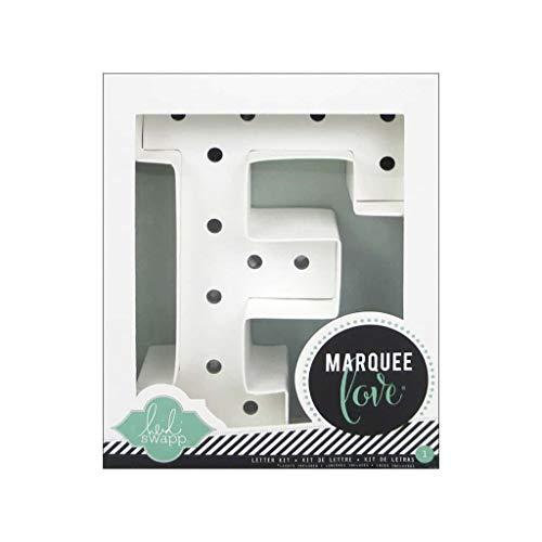 Heidi Swapp Marquee Love Buchstaben F, Papier, weiß, 8.5 x 8.5 x 2.2 cm