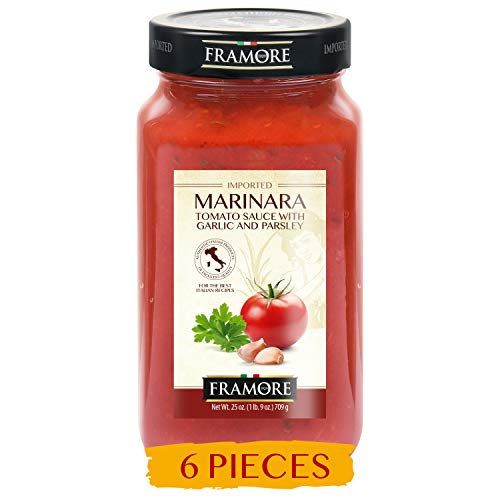 FRAMORE, Marinara Sauce Pasta 25 ounce pack of six Imported from Italy