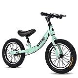 Bicicleta de Equilibrio, Ruedas de 14 Pulgadas, Bicicleta de Entrenamiento de niños pequeños con Asiento y Freno Ajustable, sin pedalear Bicicleta de Balance para niños de 2 a 7 años niñas