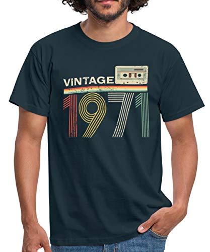 50. Geburtstag Vintage Jahrgang Baujahr 1971 Männer T-Shirt, S, Navy