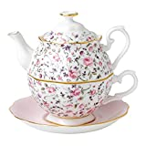 Royal Albert Party RSECON Tea for One 0.49ltr/1.03pt, Knochenporzellan, Rosa