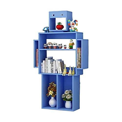 LBMTFFFFFF plank boekenplank moderne boekenplank vloer staande boekenkast plank opslag organizer display plank voor slaapkamer, woonkamer en kantoor boekenkasten, blauw