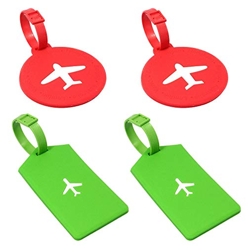 gotyou 4 Piezas Etiqueta de Equipaje de Avión,Tarjeta de Identificación de Equipaje...