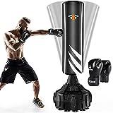 Boxsack Standboxsäcke Trainingsgeräte mit Boxhandschuhen, Erwachsene Freistehender Standboxsack, MMA Boxpartner Boxing Trainer Hochleistungs-Boxsack mit Saugfuß für Anfänger, Erwachsene, Jugendliche