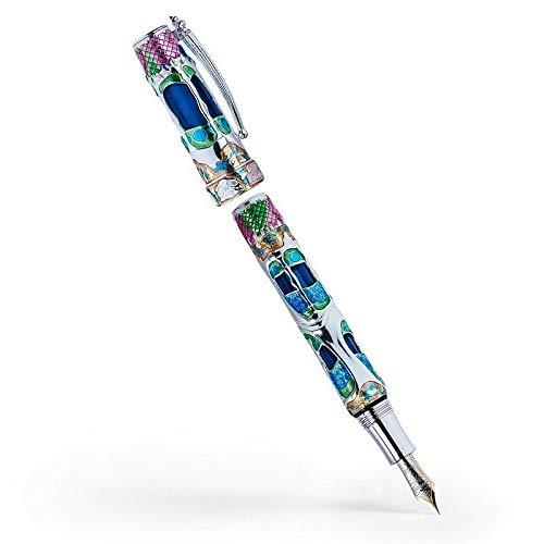 Visconti pluma estilográfica Casa Batlló Silver FP–Lápiz F