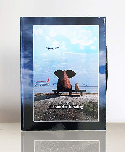 Hardcover Notizbuch A4 | Motivationsbilder | Skizzenbuch mit Kugelschreiber | Sprüche & Bilder