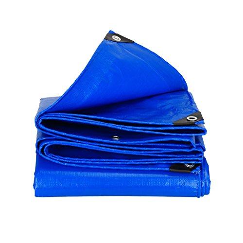 LQq-Bâches Bâche solaire imperméable de polyéthylène de bâche avec la couche protectrice de haute qualité, appropriée au manteau extérieur extérieur de manteau de manteau, bleu, épaisseur 0.38 millimè