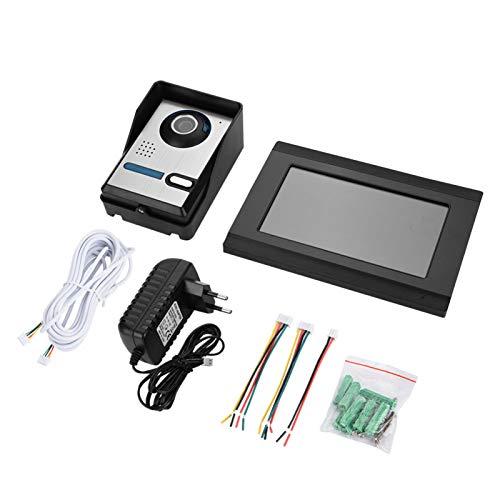Kit de Timbre Inteligente para el hogar con intercomunicador de Anillo de teléfono de Puerta con cámara de Video WiFi con Pantalla táctil de 7 Pulgadas(Estándar Europeo (110-240 V))