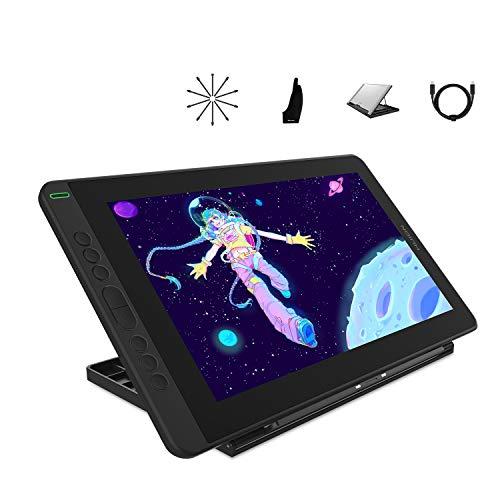 HUION 2020 Nueva Kamvas 13 Tableta Gráfica con Pantalla, Monitor de Dibujo Gráfico con Pantalla Laminada Completa, Nuevo lápiz PW517, Cable Type-C, Dispositivo Android Compatible, con Soporte, Púrpura