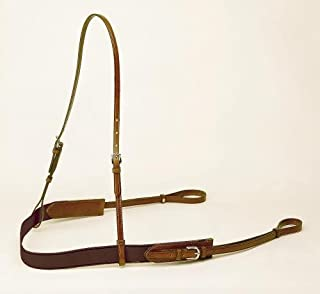 Bridle Leather and Elastic Polo Style Breast Plate