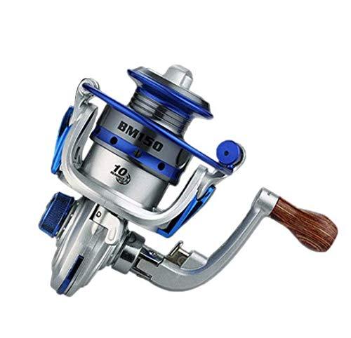 Mini Tipo Carrete De Pesca Rodamientos De Spinning 5.2: 1 Reel De Pez Metálico Reel Exquisito Carrete De Hilado Engranaje De Pesca Herramientas Al Aire Libre 150 G(Color:BM150 Silver)