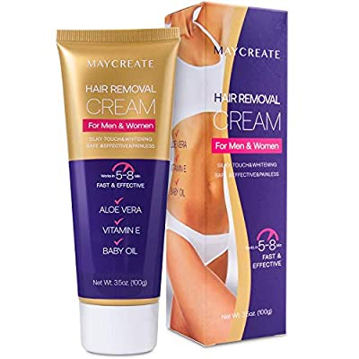 MAYCREATE Hair Removal Cream, Depilatory Cream, Hair Remover for Men and Women, Natural Painless Hair Removal Cream, Used on Bikini, Underarm, Chest, Back, Legs and Arms by MAYCREATE