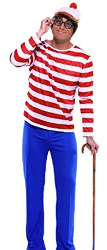 Fragolina dolcecuore - uomo Carnevale genieforce loft telaio costumeè 'dov'è Walter?' S-M, rosso Rot-Blau-Weiß S