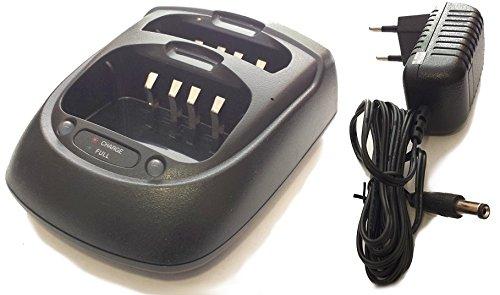 WOUXUN WX-D002 Cargador Dual de Mesa Original para KG-801/UV2D/UVD1/UV6D/703/639/699 - Midland/CTE CT-790