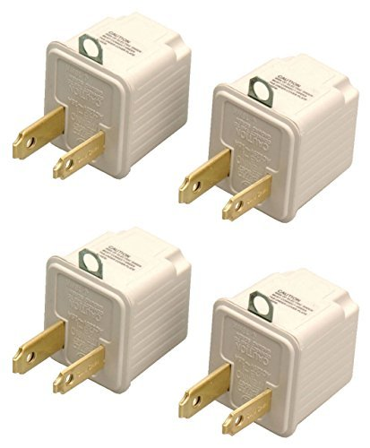 2-Packs of Coleman Cable 9901 3-Prong To 2-Prong Grounding Outlet Adapter 2/pk