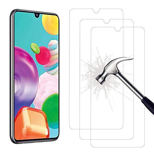 AHABIPERS 3 Stück Schutzfolie für Samsung Galaxy A41 Panzerglas, HD Displayschutzfolie, 9H Härte Schutzfolie, Anti-Kratzer/Bläschen/Fingerabdruck/Staub Panzerglasfolie für Samsung Galaxy A41