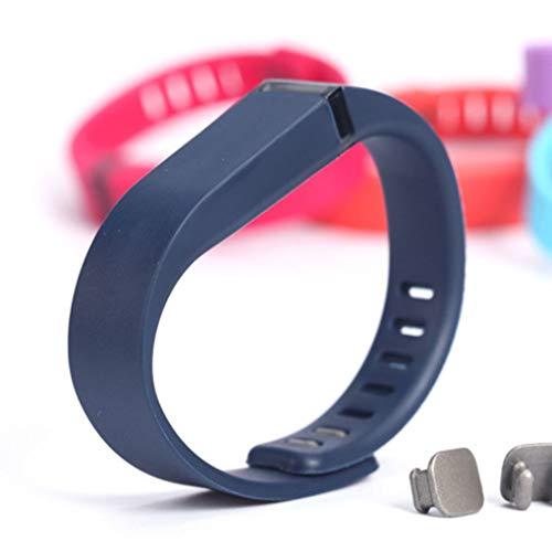 Busirde Fitbit Flex-Band-Schwarz Mit Verschluss Ersatz-TPU-Handgelenk-Bügel drahtlose Aktivität Armband-Armband mit Metallschließe Navy blau