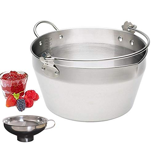 Large Maslin Pan Jam Making Pot With Stainless Steel Jam Chutney Funnel-Home Made Jam Canning Tools