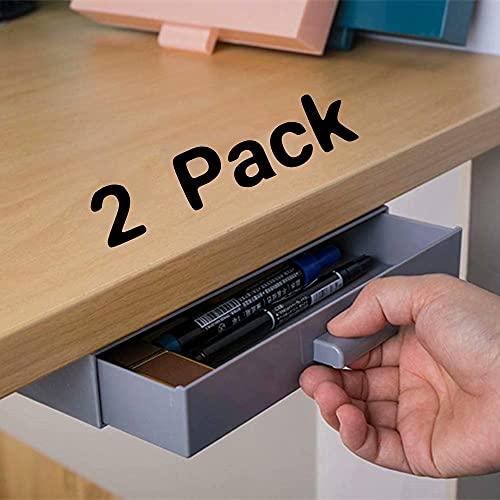 2 Pack Under Desk Drawer, Under Desk Storage Organizers, Small...