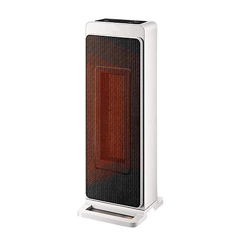 Portable Vertical Calefactor Eléctrico,Cerámica Oscilante Sobrecalentamiento Protegido Calefactor 3 Ajuste De Calor Con Control Remoto Para Casa Oficina Blanco-Blanco 1 23x22x53cm
