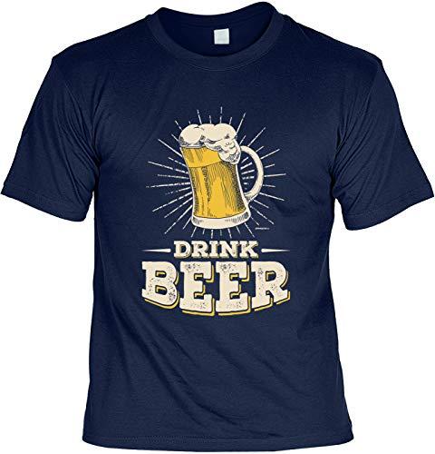 T-Shirt im Set mit einem Bier Blechschild - Drink Beer & 10 Gründe Warum Bier Besser ist als eine Frau