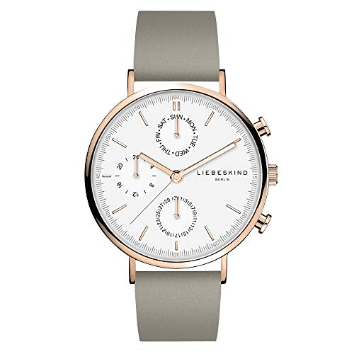 Liebeskind Berlin Damen Multi Zifferblatt Quarz Uhr mit Leder Armband LT-0196-LM
