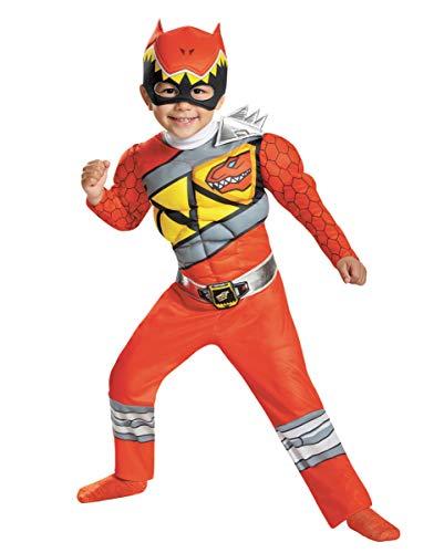 Horror-Shop El Power Ranger Rojo Dino Carga El Disfraz De Niño Pequeño XS