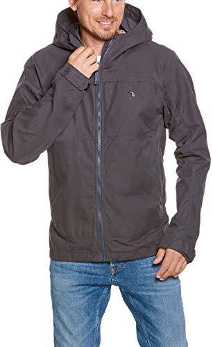 Tatonka Übergangsjacke Vinjo M's Hooded Jacket - Größe XXL - Herren-Jacke mit Kapuze und hohem UV-Schutz - Regular Fit - grau