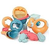 DXQDXQ Niños 14 Piezas Moda Conjunto de Juguetes de Playa Niños Juguetes de Nieve Bebé Verano Juguetes de Arena Juguetes de Baño Conjunto