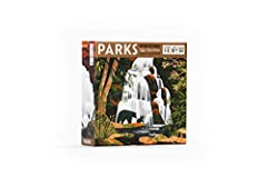 48 unique illustrations featuring 45 US National Parks from over 35 artists 102 Wood resource tokens include 12 unique wildlife tokens representing some of the most iconic animals that can be seen in the National Parks today 1 box organizer and 2 rem...